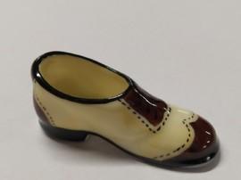 Chaussure porcelaine jaune et marron