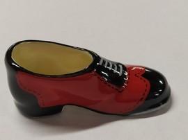 Chaussure porcelaine rouge et noire